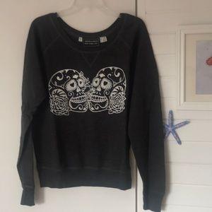 Tops - Sugar Skull Scoop Neck Sweatshirt